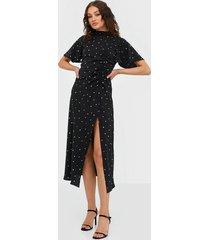 ax paris split midi dress klänningar