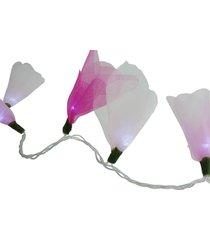 cordão de luz crie casa luz de fada crie casa organza três tons de rosa