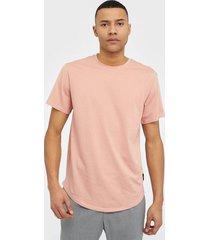 only & sons onsmatt life longy ss tee noos t-shirts & linnen ljus rosa