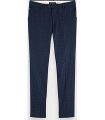 scotch & soda mott - patterned trousers super slim fit