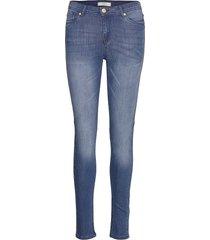 cindy straight pant raka jeans blå soft rebels