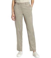 lafayette 148 new york women's classic fulton pants - sandstone - size 10