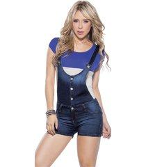 overall adulto para mujer  azul marketing personal 81172