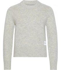 sweater gris calvin klein shetland wool sweater