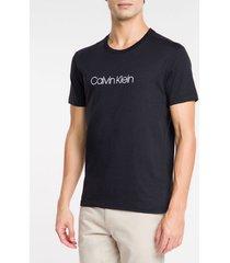 camiseta slim básica flamê calvin klein - preto - pp