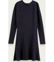 scotch & soda rib knit sweat dress