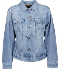 michael kors fitted denim jacket