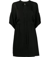 tunic dress with plunging v-neck
