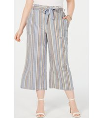 seven7 jeans trendy plus size cotton cropped wide-leg pants