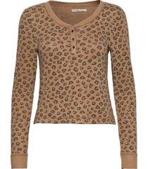anf womens intimates & sleep stickad tröja brun abercrombie & fitch