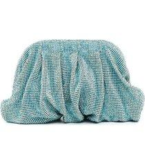 benedetta bruzziches rhinestone-embellished clutch bag - blue
