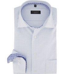eterna overhemd comfort fit wit geblokt
