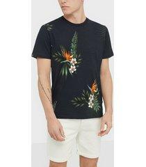 premium by jack & jones jprholiday bla. tee ss crew neck t-shirts & linnen svart