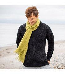 light green alpaca islander scarf
