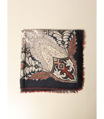 etro neck scarf etro bombay shawl in paisley patterned wool and silk