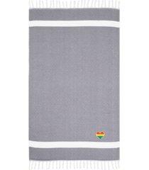 linum home textiles diamond cheerful rainbow heart pestemal beach towel bedding