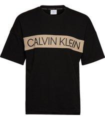 s/s sweatshirt t-shirts short-sleeved svart calvin klein