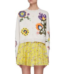 'lelia' embroidered cardigan