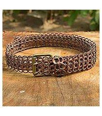 soda pop-top belt, 'brown bronze armor chain mail' (brazil)