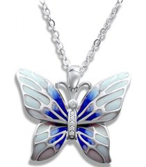 collar mariposa celeste casual arany joyas