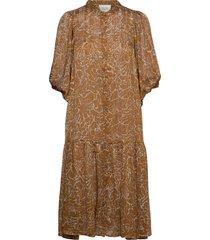 fijito dress knälång klänning brun second female