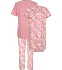 pyjamas & nattlinne blue moon gammalrosa::nude::benvit