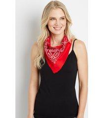 maurices womens basic red bandana
