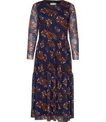 dress-jersey knälång klänning multi/mönstrad brandtex