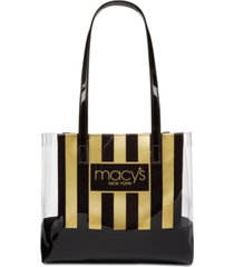 dani accessories macy's stripe & clear tote, created for macy's