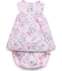 jenali jurk roze kenzo