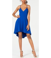 b darlin juniors' racerback high-low dress, created for macy's