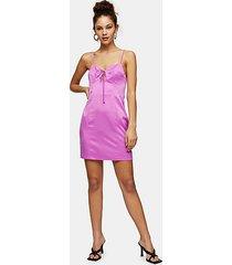 bubblegum pink gathered bust slip dress - pink