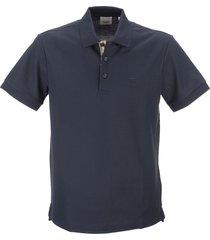 burberry eddie - monogram motif cotton piqué polo shirt