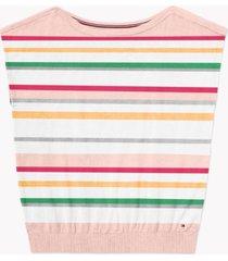 tommy hilfiger adaptive women's jocelyn striped sweater with wide neck opening