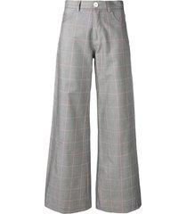 société anonyme paulette wide leg trousers - grey