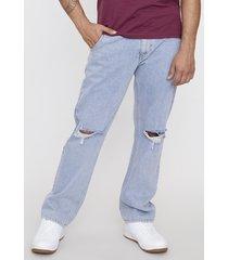 jeans noventero roturas azul - hombre corona