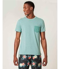 camiseta slim com bolso malwee masculina - masculino