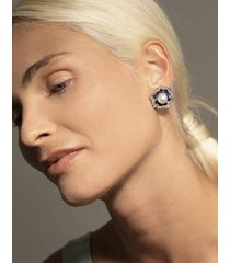 9mm pearl center earrings