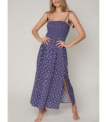 lange jurk admas lange zomerjurk navy cachemire