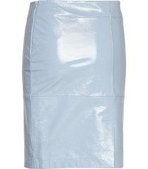 2nd cecilia patent kort kjol blå 2ndday