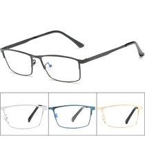 gambali in metallo elastico chiaro anti blu da uomo lente confortevole chiaro lente occhiali