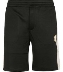 alexander mcqueen logo badge shorts