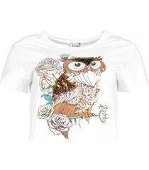 t-shirt met print wild  wit