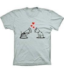 camiseta baby look lu geek amor de cão prata