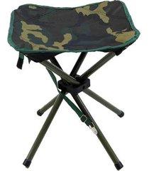 banqueta dobrável nautika stool para camping camuflado