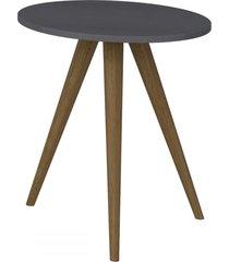mesa de canto redonda 1006 retro espresso - bentec