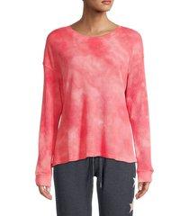 for the republic women's dropped-shoulder sweatshirt - pink - size l