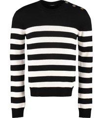 balmain long sleeve crew-neck sweater