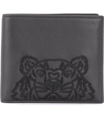 kenzo kampus wallet made of black leather