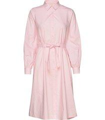 beatrice midi shirt dress knälång klänning rosa soft rebels